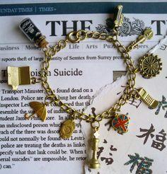 SALE - 20% off - Sherlock theme charm bracelet