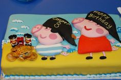 Peppa and George pirate birthday cake