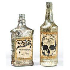 Create a magic potion this #Halloween with these creepy bottles from #MarthaStewartLiving at homedecorators.com.