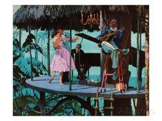 Couple Dancing in the Jungle Art par Pop Ink - CSA Images sur AllPosters.fr