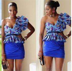 Ankara Short Skirt And Blouse Style - DeZango Fashion Zone