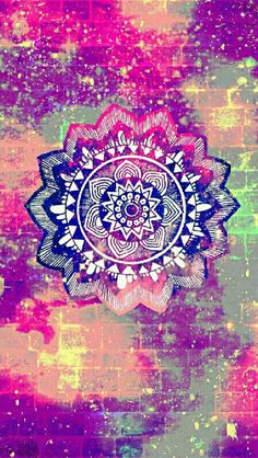 Vintage mandala brick galaxy iPhone/Android wallpaper I created for the app CocoPPa.