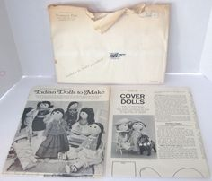 WOMEN'S DAY 1966 Doll Patterns Native American Indian & Cover Dolls Joan Russell