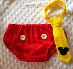 Items similar to Cake Smash Outfit - Mickey Mouse - Diaper Cover & Tie - Photo Prop on Etsy Mickey Mouse Bday, Mickey Mouse 1st Birthday, Monster High Birthday, Baby Boy 1st Birthday, Mickey Party, Thomas Birthday, Birthday Ideas, Cake Smash Outfit Boy, Creations