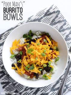 Poor Man's Burrito Bowls | Budget Bytes | Bloglovin'