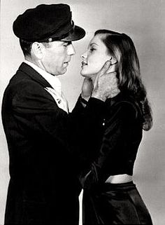 Humphrey Bogart & Lauren Bacall, 'To Have and Have Not'... they fell in love making this film, she was 19, he was 44, 1945.