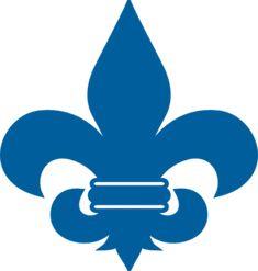 Cub Scout Blue Fleur De Lis clip art - vector clip art online, royalty free & public domain
