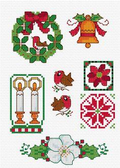 Cross Stitch- http://lesleyteare.com/2013/11/24/quick-christmas-motifs/