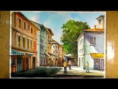 Watercolor Painting the Sunlight Street