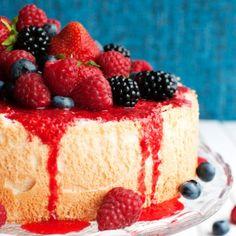Strawberry Mousse Cake with Candied Rhubarb - The Tough Cookie Espresso Cake, Chocolate Espresso, Pecan Pie Cupcakes, Apple Cupcakes, Dark Chocolate Cakes, Chocolate Cupcakes, Raspberry Sauce, Angel Food Cake, Cake Pans