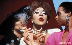 """""""Paris is Burning"""" (L-R Angie Extravaganza, Dorian Corey and Willi Ninja). Paris Is Burning, Culture Pop, Club Kids, Moving Pictures, Classic Movies, Movies To Watch, Burns, The Past, Cinema"""