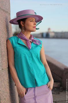 """Boater hat / Шляпы ручной работы. Канотье """"Santa Lucia"""" (Санта Лючия). La Magie. Ярмарка Мастеров. Головной убор, венеция"""