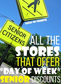 """From grocery stores to big box retailers, I found close to a dozen places that offer a """"day of the week"""" senior discount. Some even start at 50 years old. Best Money Saving Tips, Ways To Save Money, Saving Money, Money Tips, Senior Day, Preparing For Retirement, Days Of Week, Chicago Shopping"""