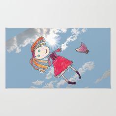 Lallala Elisaveta Rug by azima Up To The Sky, New Age, Summer Of Love, Daydream, Insta Art, Namaste, New Work, Digital Art, Doodles