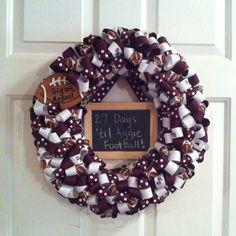 My Aggie ribbon wreath
