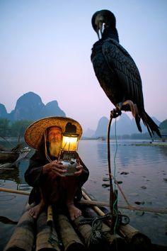 Cormorant Fishing on the Li River, Xingping, China (soon!! <3)