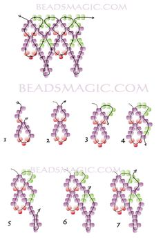Free pattern for necklace Donna  2