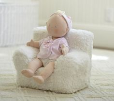 Cute Pottery Barn Kids doll chair - would be cute in the American Girl house.