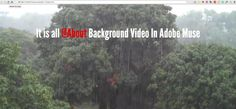 Adding video to the background of a page in Adobe Muse. Muse will write the HTML 5 code for you. A video background can look really cool. Photoshop Lessons, Adobe Muse, Video Background, Ads, Videos, Content, Create