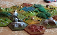 5 Hex Tile Custom 3D Settlers of Catan Set // A Taste of the Land of Catan…