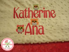 Custom designed personalized baby blankets starting at $65 www.sun7designs.com  Follow us on Facebook www.facebook.com/sun7designs for specials and giveaways