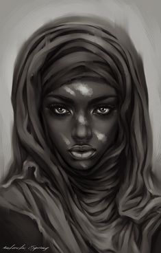 Hijab by Antarctic Spring, via Behance. Character Sketch Design Drawing Illustration Inspiration
