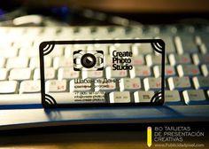 tarjetas de presentacion transparentes y creativas para fotografos