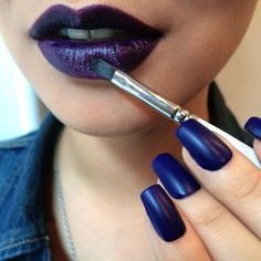 Just in time for Fall, pair shades of deep, decadent purple on both lips and nails! #Sephora #ObsessiveCompulsiveCosmetics