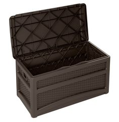 Suncast Resin Wicker Deck Box – Deck for Houses Patio Storage, Shed Storage, Storage Containers, Outdoor Storage, Suncast Deck Box, Storage Box On Wheels, Patio Cooler, Deck Framing, Under Decks
