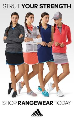 Show off more than just your swing. Rangewear by Adidas will have you looking and feeling great both on and off the course. Golf Fashion, Fashion 2017, Fashion Outfits, Fashion Trends, Golf Attire, Golf Outfit, Summer Outfits, Casual Outfits, Cute Outfits