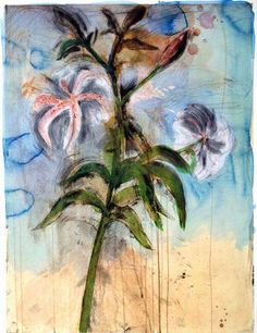 Jim Dine, The Sky and Lilies (from Flowers in Manhattan), Etching and silkscreen with hand coloring on Hahnmüle Warm White paper; Jim Dine, Flower Images, Flower Art, Pop Art Movement, Artist Gallery, Painting Inspiration, Garden Inspiration, American Artists, New Art