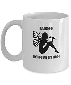 Fairies believe in me! Gift Mugs, Gifts In A Mug, Bedtime Stories, Novelty Gifts, Fairies, Believe, Tableware, Prints, Design