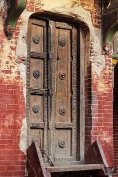 Ancient wooden Door   Pakistan.