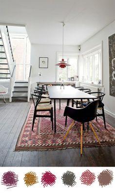 Room to outfit | Verwassen warme tinten  | Kelim*