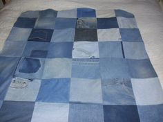 Recycled Blue Jean OSU Quilt by jeanoligy on Etsy, $65.00