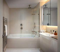 Bathroom make creamy bath and sink