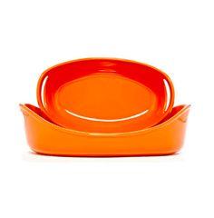 rachael ray 2-pc orange serving set