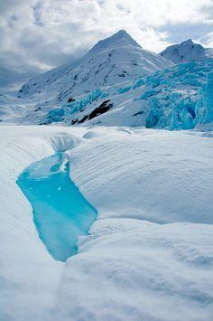 Portage Glacier, Kenai Peninsula, Alaska.