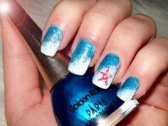 Starfish on seawaves nail design