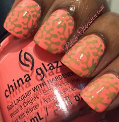 @chinaglaze Flip Flop Fantasy stamped with Kiwi Cool-Ada