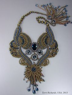 Bead Embroidery Pearl Necklace - B.O.T.B 2013 on Etsy, $700.00