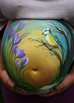 Tatyana Fateyeva || blue jay and flower belly