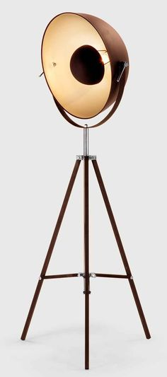 FM0176-1(rust)  industrial style floor lamp. Steel shade with tripod base