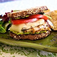 Chicken club with avocado spread HealthyAperture.com