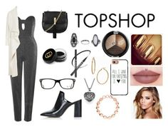 """topshop.com"" by surfernurd ❤ liked on Polyvore featuring Topshop, Gucci, Charlotte Tilbury, Bony Levy, Ray-Ban, Casetify, Links of London and topshop"
