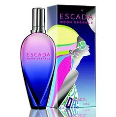 #ESCADA #MOON SPARKLE by Escada for Women EDT SPRAY 3.3 OZ   A fruity floral fragrance, with sparkling strawberry and red apple notes.  Top notes: strawberry, blackcurrant, citrus cocktail, red apple.  Middle notes: sweet pea, freesia, jasmine, rose. Base notes: raspberry, musky notes, sandalwood, dry ambery notes.  Style: Energizing. Precious. Rare.