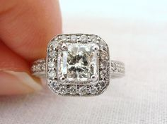 Custom Order, Reserved for Fernando, Vintage Art Deco 18k Diamond and Ring