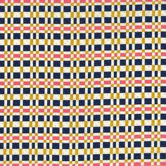 Cotton & Steel - Alexia Abegg - Hatbox - Trunk - Plaid Navy