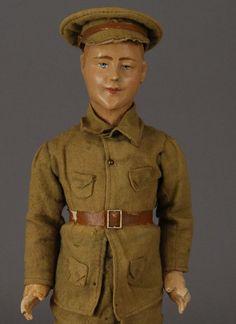 Papier-Mache Soldier from carmeldollshop on Ruby Lane