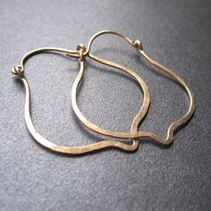 I love a fresh twist on a classic hoop...hammered, shaped, whatever.